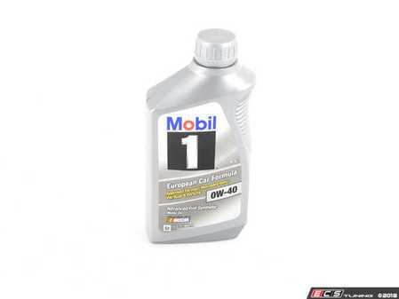 ES#2575992 - 00004330316KT - Mobil 1 Engine Oil (0w-40) - 1 Quart - Full synthetic API SN oil approved by most Euro OEM's including VW/Audi 502.00/505.00, Porsche A40, and MB 229.3/229.5. - Mobil1 - Audi BMW Volkswagen Mercedes Benz MINI Porsche