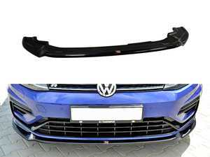 ES#3557637 - VW-GO-7F-R-FD3-G - Front Lip Spoiler V3 - Gloss Black - ABS plastic splitter that will enhance the look of your vehicle in minutes! - Maxton Design - Volkswagen