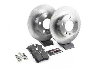 ES#3160184 - KOE847 - Autospecialty Daily Driver Brake Service Kit - Rear (232x9) - Stock replacement brake kit with hardware, featuring OE replacement brake rotors and high performance Evolution ceramic pads - Power Stop - Audi Volkswagen