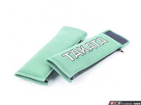 """ES#3505117 - 78008-H2 - Takata 3"""" Harness and Seat Belt Pads - Green - Pair - Eliminate discomfort caused by your seat belt or racing harness! - Takata - Audi BMW Volkswagen Mercedes Benz MINI Porsche"""