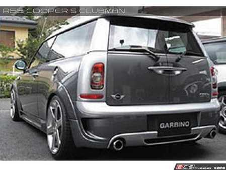 ES#3557773 - GAR-R55-004 - Garbino Rear Bumper & Diffuser Clubman - Dual Exhaust Tips  - Aggressive FRP rear bumper kit that has a MINI AERO OEM type look - Garbino - MINI