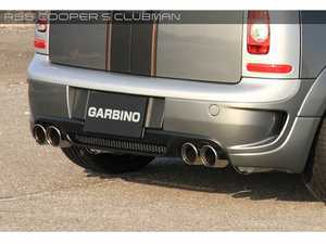 ES#3557774 - GAR-R55-005 - Garbino Rear Bumper & Diffuser Clubman - Quad Exhaust Tips  - Aggressive FRP rear bumper kit that has a MINI AERO OEM type look - Garbino - MINI