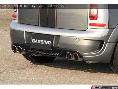 ES#3557774 - GAR-R55-005 - Garbino Rear Bumper & Diffuser Clubman - Quad Exhaust Tips  - Aggressive FRP rear bumper kit that has a MINI AERO OEM type look - Garbino - MINI