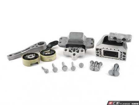 ES#2593525 - 1K0199262MKT2 - Complete Drivetrain Mount Kit - Includes new engine/transmission mounts with hardware - Assembled By ECS - Audi