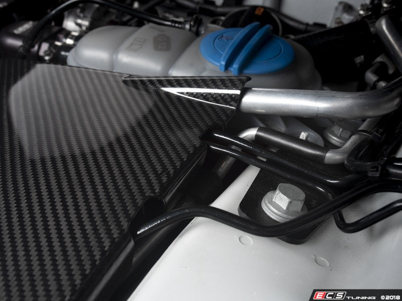Ecs News Ecs B8 A4s4 Carbon Fiber Left Side Engine Bay Covers