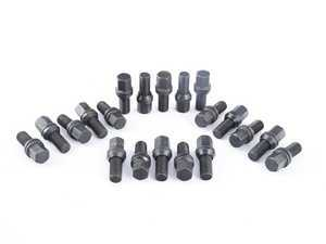 ES#3553134 - 1415BPCD26BK-20 - Conical Seat PCD Adjusting Bolt - 14x1.5x27mm - Set Of 20 - Electro black coated wobble bolts for fitting 5x110 or 5x114.3 wheels to a 5x112 vehicle - HD Tuning - Audi BMW Volkswagen