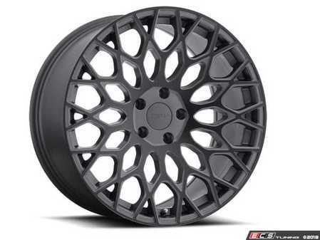 "ES#3559520 - 1780slw425112KT2 - 17"" Oslo Wheels - Set Of Four - 17""x8.0"", ET42, 5x112 - Matte Gunmetal w/Matte Black Face - TSW Alloy Wheels - Audi Volkswagen"