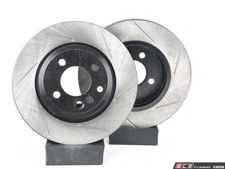 ES#2597958 - 34111502891SLKKT - Performance Front & Rear Brake Service Kit - Featuring ECS V4 Slotted rotors and Hawk HPS pads - Assembled By ECS - MINI