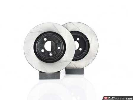ES#4140385 - 34116855781SLKT5 - Performance Front & Rear Brake Service Kit - JCW - Featuring ECS V4 Slotted rotors and Hawk HPS pads - Assembled By ECS - MINI