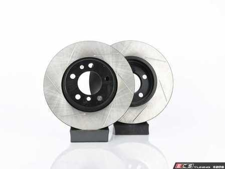 ES#2771728 - 34119804829KT16 - Performance Front Brake Service Kit - Featuring ECS V4 Slotted rotors and EBC Red pads - Assembled By ECS - MINI