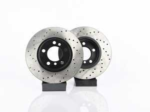 """ES#3559408 - 025997ecs320KT - Front V4 Cross Drilled Brake Rotors - Pair 12.08"""" (307x24) - Precision manufactured and featuring an electrostatic rust-inhibiting coating - ECS - MINI"""