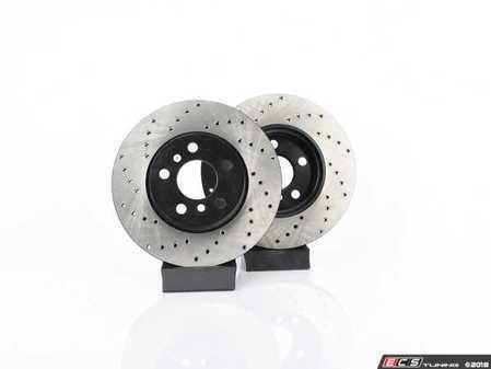 ES#4365081 - 34116866297XDKT - Performance Front & Rear Brake Service Kit  - Featuring ECS V4 Drilled rotors and Hawk HPS 5.0 pads - Assembled By ECS - MINI