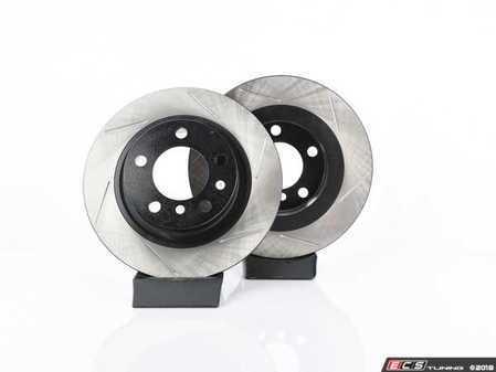 ES#4141687 - 34219811540SLKT - Performance Rear Brake Service Kit - Featuring ECS V4 Slotted rotors and EBC Red pads - Assembled By ECS - MINI