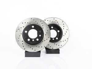 """ES#3559419 - 025997ecs329KT - Front V4 Cross Drilled Rotors - Pair 11.57"""" ( 294x22 ) - Precision Manufactured And Featuring An Electrostatic Rust-inhibiting Coating - ECS - MINI"""