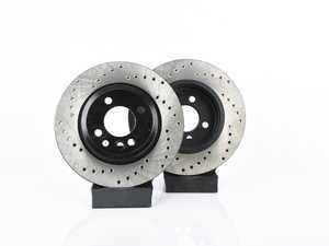 """ES#3536666 - 025997ECS0307KT - Front V4 Cross Drilled Rotors - Pair 10.86"""" (276x22) - Precision manufactured and featuring an electrostatic rust-inhibiting coating - ECS - MINI"""