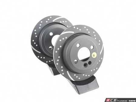 "ES#521652 - GD1490 - Rear Brake Rotors EBC Slotted And Dimpled - Pair 10.19"" (259x10) - Upgrade to a slotted / dimpled rotor for improved braking - EBC - MINI"
