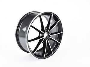"ES#3514458 - 5G0601025CFFZZ  - 18"" Clubsport Wheel ""Belvedere"" - Priced Each - 18x7.5 ET49 5x112 - Black With Machined Face - Genuine European Volkswagen Audi - Volkswagen"