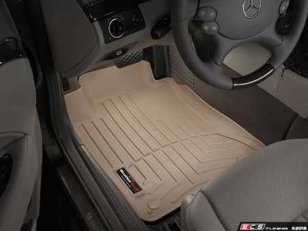 ES#2837747 - 450881 - Front FloorLiner DigitalFit - Tan - Laser measured for perfect fitment and ultimate protection against moisture and debris - WeatherTech - Mercedes Benz