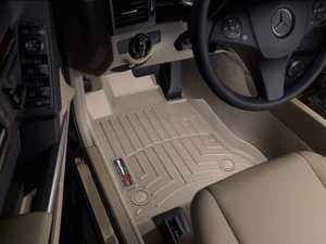 ES#2837783 - 452101 - 2009+ Mercedes-Benz GLK-Class (X204) Tan Front FloorLiner - WeatherTech - Mercedes Benz