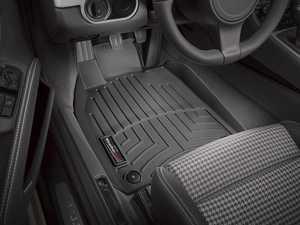 ES#2837697 - 444371 - 2012 + Porsche 911 (911) Black Front FloorLiner - WeatherTech - Porsche