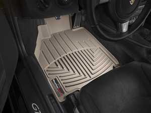 ES#2837806 - 452461 - Front FloorLiner DigitalFit Mats - Tan - Laser measured for perfect fitment and ultimate protection against moisture and debris - WeatherTech - Porsche