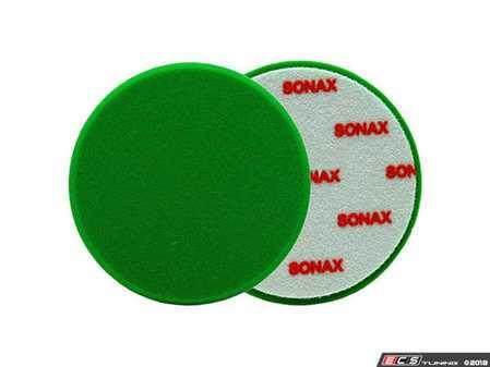 "ES#2626156 - 493000 - 160mm/6.3"" Green Polishing Pad - Medium  - Finely pored for machine polishing - SONAX - Audi BMW Volkswagen Mercedes Benz MINI Porsche"