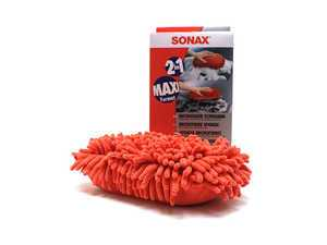 ES#3031687 - 428100 - Microfiber Car Wash Sponge - Red - Very soft microfiber with long chenille fibers for extra absorbency and enhanced foaming action. - SONAX - Audi BMW Volkswagen Mercedes Benz MINI Porsche