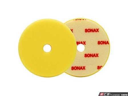 "ES#3559860 - 493341 - 143mm/5.75"" Yellow DA Finishing Pad - Soft - For machine polishing of paintwork with dual-action orbital polishers - SONAX - Audi BMW Volkswagen Mercedes Benz MINI Porsche"