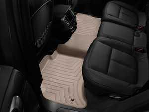 ES#2837836 - 453332 - Rear FloorLiner DigitalFit Mats - tan - Laser measured for perfect fitment and ultimate protection against moisture and debris - WeatherTech - Volkswagen Porsche