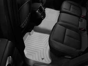 ES#2837998 - 463332 - Rear FloorLiner DigitalFit Mats - grey - Laser measured for perfect fitment and ultimate protection against moisture and debris - WeatherTech - Volkswagen Porsche