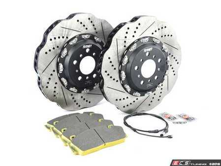 ES#3509317 - F10PERRpSKT - Performance Front Brake Service Kit - Everything you need to service your brakes in one kit. Includes Turner TrackSport front rotors and features Pagid Racing Yellow pads - ideal for the track and very streetable. - Assembled By ECS - BMW