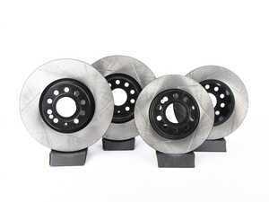ES#3536723 - 025997ECS0237KT - Front And Rear Slotted Brake V4 Rotor Kit (312x25/272x10) - Featuring ECS V4 coated rotors - ECS - Volkswagen