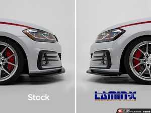 ES#3550940 - 026098ECS01 - Headlight Side Marker Film Set - Gunsmoke - Pre-cut Gunsmoke Lamin-X film to cover the amber markers on both headlights - ECS - Volkswagen