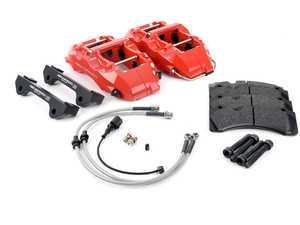 ES#3142634 - 99.10.45R -  6-Piston Big Brake Kit - Red - A caliper swap kit that utilizes factory rotors! - Neuspeed - Audi Volkswagen