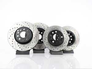 ES#3536702 - 025997ECS0217KT -  Front & Rear Drilled/Slotted Brake V4 Rotor Kit (312x25/272x10) - Featuring ECS V4 coated rotors - ECS - Volkswagen
