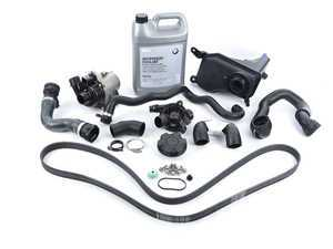 ES#2597716 - 11510392553RKT - ECS Cooling System Refresh Kit - Level 2 - A more advanced refresh kit - with primary cooling system hoses and accessory belt - Assembled By ECS - BMW