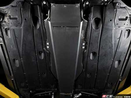 ES#3221081 - 022446ecs01-01kt -  Aluminum Street Shield Tunnel Brace - FWD - Reinforce your chassis while protecting costly undercarriage components - ECS - Volkswagen