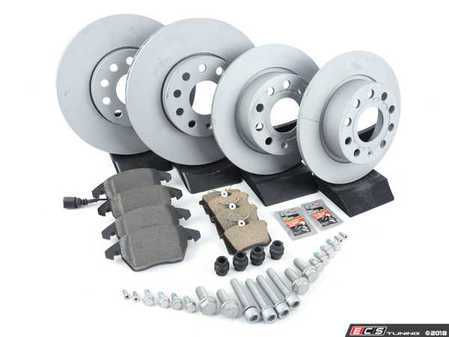 ES#2966668 - 5C0615301AKT8 - Front & Rear Brake Service Kit (288x25/253x10) - Everything you need to service your brakes in an afternoon - Assembled By ECS - Volkswagen
