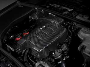 ES#3509780 - 016308ECS01-04KT -  Carbon Fiber Engine Cover Kit - Add a flash of style and elegance under your hood with an ECS Tuning Carbon Fiber Engine Cover - ECS - Audi