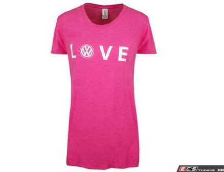 ES#3232944 - DRG003966PNKMD - Love T-Shirt - Medium - Love comes in many forms. Fuscia - Genuine Volkswagen Audi - Volkswagen
