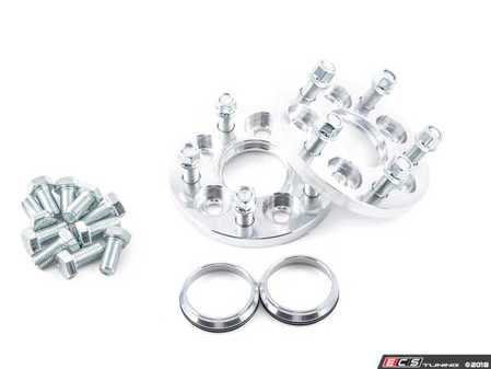 ES#3082080 - 9821452 - 5x112 To 5x114.3 Wheel Adapter Pair - 25mm - Bolts to your hub with supplied bolts and uses lug nuts to secure conical seat wheels. Includes 73mm hub rings. - 42 Draft Designs - Audi Volkswagen