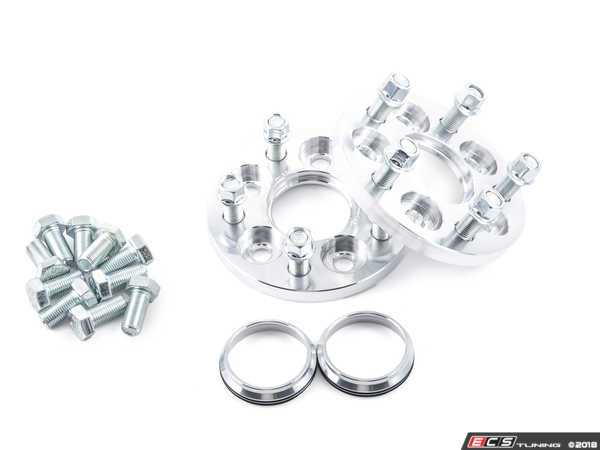 ES#3076165 - 1070551 - 5x100 To 5x120.65 Wheel Adapter Pair - 25mm - Bolts to your hub with supplied bolts and uses lug nuts to secure conical seat wheels. Includes 70.3mm hub rings. - 42 Draft Designs - Volkswagen