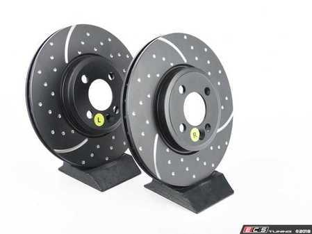 """ES#521651 - GD1488 - Front Brake Rotors EBC Slotted And Dimpled - Pair 11.57"""" (294x22) - Upgrade to a slotted / dimpled rotor for improved braking - EBC - MINI"""