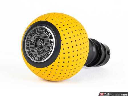 ES#3569940 - GS2DGSYT - BFI Heavy Weight Shift Knob SCHWARZ - - Giallo Taurus Yellow Perforated Leather  - Just because your car doesn't have a third pedal, doesn't mean you should be stuck with some goofy shifter. - Black Forest Industries - Audi Volkswagen