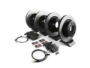 ES#3537247 - 025997ecs090KT5 - Performance Front & Rear Brake Service Kit - Featuring ECS V4 blank rotors and Hawk HPS pads - Assembled By ECS - BMW