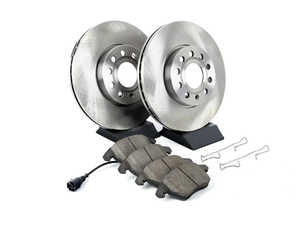 ES#3159204 - KOE4623 - Autospecialty Daily Driver Brake Service Kit - Front (288x25) - Stock replacement brake kit with hardware, featuring OE replacement brake rotors and high performance Evolution ceramic pads - Power Stop - Volkswagen