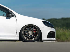 "ES#3569243 - 330-2KT - 18"" Style 330 Wheels - Set Of Four - 18""x8"", ET42, 66.6CB, 5x112 - Bronze Finish - Alzor - Audi MINI"