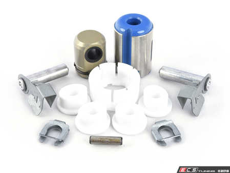 ES#3514407 - 2511122060KT4 - Shifter Rebuild & Upgrade Kit - Overhaul your shifter with this kit, featuring ECS Tuning Teflon shifter bushings & Turner Motorsport poly shift arm bushing - Assembled By ECS - BMW