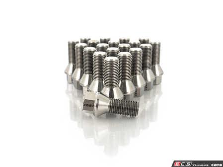 ES#3570222 - 025384ecs03-0120 - Titanium Conical Seat Wheel Bolt - 14x1.5x27mm - Set Of 20 - Lightweight, corrosion resistant, high performance lug bolts - ECS - Audi BMW Volkswagen Mercedes Benz