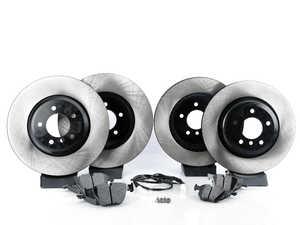 ES#3537341 - 025997ecs075Kt5 - Performance Front & Rear Brake Service Kit - Featuring ECS V4 blank rotors and Hawk HPS pads - Assembled By ECS - BMW